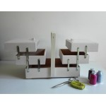 Wood Sewing Box - Color White