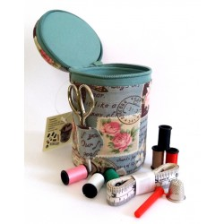 Sewing Kit with Pincushion - Roses