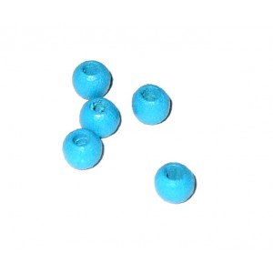 Blue Wood Beads - Size 4 mm