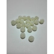 Berry Plastic Pearl - White Color - Size 10 mm