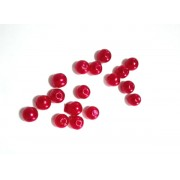 Plastic Pearl - Diameter 5 mm - Garnet Red