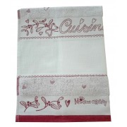 Fratelli Graziano - Terry Christmas Dish Towel - Angel - Color Bordeaux