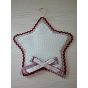Christmas Cross Stitch Door Wreath - Star