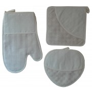 Ready to Cross Stitch Potholders and Oven Glove - Cream Square