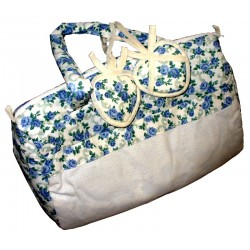 Ready to Stitch Embroidery Bag - Blue Roses
