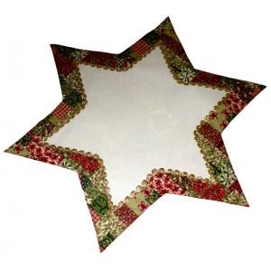Centrotavola Natalizio Panna  - Stella di Natale