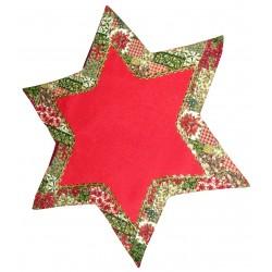 Mantel para Mesa Rojo - Estrella de Navidad