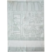 Light Grey Kitchen Towel - The Flower Girl