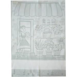 Light Grey Kitchen Towel - The Flower Girl
