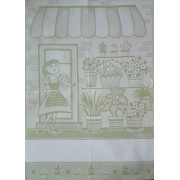 Light Green Kitchen Towel - The Flower Girl