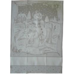 Christmas Kitchen Towel - Snowman