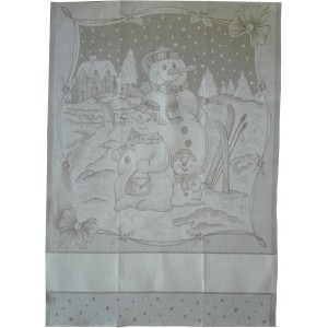Christmas Kitchen Towel - Snowman
