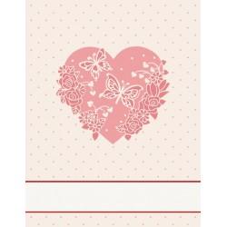 Chenille Dishtowel - Red Heart
