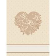 Chenille Dishtowel - Ecru Heart