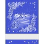 Asciugapiatti Paesaggio Natalizio - Blu