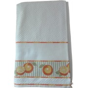 Kitchen Terry Towel with Aida Band - Oranges