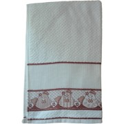 Kitchen Terry Towel with Aida Band - Hen