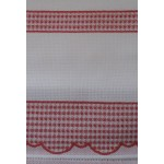 Dishtowel to Cross Stitch with Colored Square Border