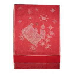 Red Stitchable Kitchen Towel - Christmas Songs