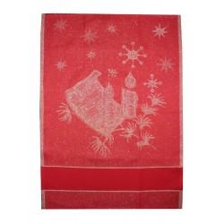 Paño de Cocina Navideño Rojo - Canciones de Navidad