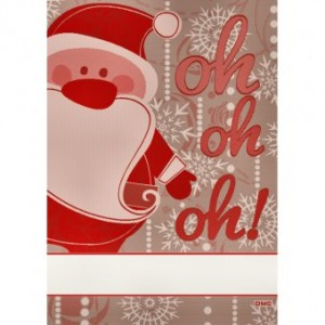 Strofinaccio Babbo Natale da Ricamare - Crema
