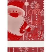 Kitchen Towel Santa Claus to Cross Stitch - Red