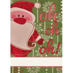 Kitchen Towel Santa Claus to Cross Stitch - Green