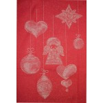 Stitchable Kitchen Towel - Colour Red - Gold Angel