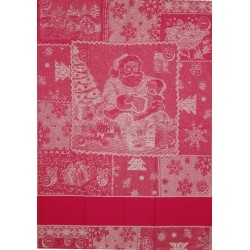 Red Christmas Kitchen Towel - Santa Claus