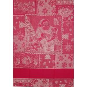 Red Christmas Kitchen Towel - Santa Claus