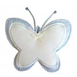 Baby Cockade Announcement - Butterfly - Light Blue