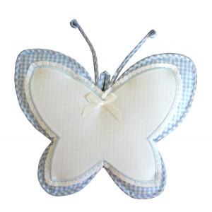 Coccarda Nascita - Farfalla - Celeste