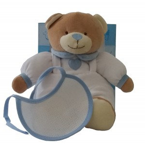 Teddy Bear to Cross Stitch - Light Blue and White