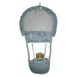 Baby Cockade Announcement - Teddy Bear with Air Balloon - Ligh Blue
