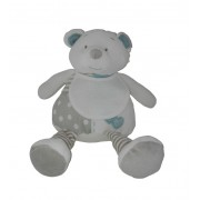 Teddy Bear with Baby Bib to Cross Stitch - Light Blue