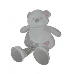 Teddy Bear with Baby Bib to Cross Stitch - Pink