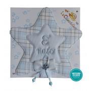 Baby Cockade Announcement - Light Blue Star
