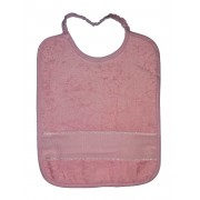 Terry Baby Bib with Aida Band and Elastic  - Color Pink