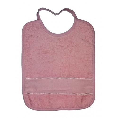 Bavaglino in Spugna da Ricamare con Elastico - Colore Rosa
