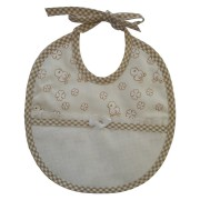 Baby Bib to Cross Stitch - Light Brown Ducks