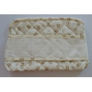 Toiletery Bag to Cross Stitch - Cream Teddy Bear