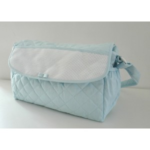 Baby Nursery Bag to Cross Stitch - Light Blue
