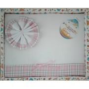 Conjunto de Sábanas para Cuna - Linea Escocesa - Color Rosa