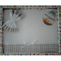 Baby Sheet Set - Scottish Line - Color Turtledove