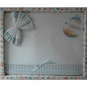 Baby Sheet Set - Scottish Line - Color Light Blue