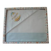 Stitchable Baby Bed Sheets - Light Blue Little Dots