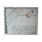 Stitchable Baby Bed Sheets - Light Blue Birds