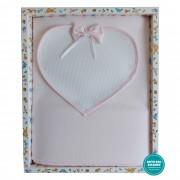 Pink Baby Fleeze Blanket wit Aida Fabric Heart