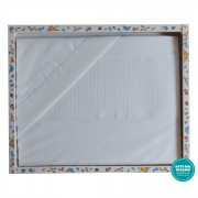 Stitchable Baby Bed Sheets - White Dots