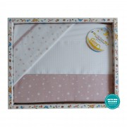 Stitchable Baby Bed Sheets Star - Pink